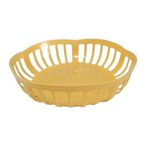 Brotkörbchen pastell-gelb, Kunststoff Brotkorb Füllkorb Frühstückskorb Frühstückskörbchen Obstkorb