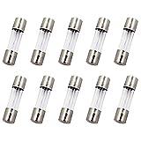 SIXQJZML 10 Pack F5AL Fast-Blow Fuse 5A 5amp 125V Glass Fuses 0.2 x 0.78 Inch / 5 x 20 mm (125Volt) (F5A)