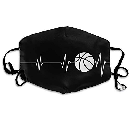 Heartbeat Basketball Schwarz-Weiß-Bedruckte Wiederverwendbare waschbare Gesichtsschutzhülle für den persönlichen Schutz