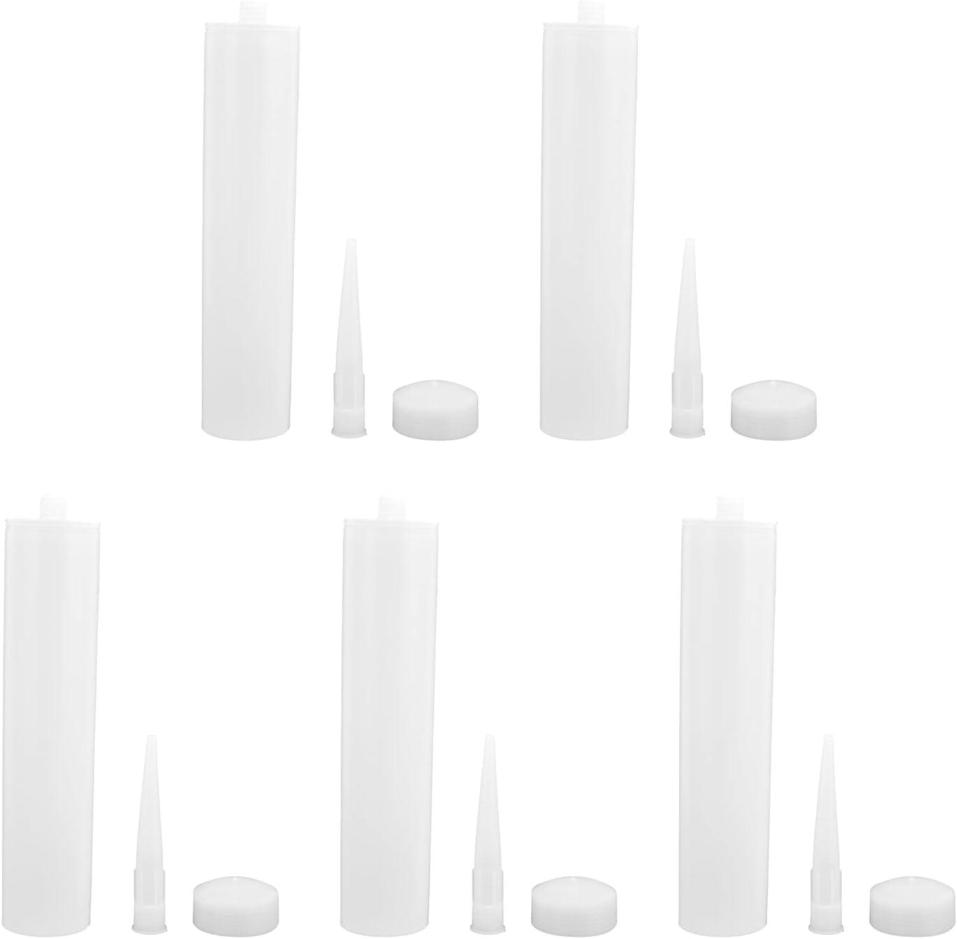 5 sets Caulk Max 49% OFF Tube 300ml White Las Vegas Mall and Caulking PC Squee Sealant