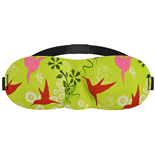 3D Eye Mask Sleep Mask (Hummingbird Green - Pack of 2)
