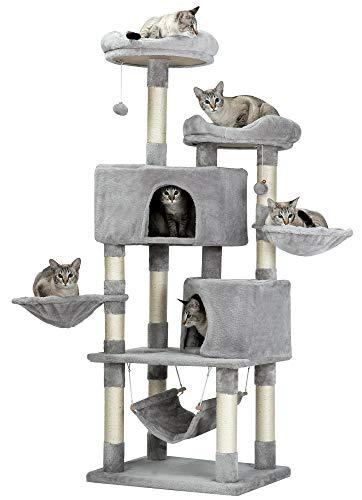 Mwpo キャットタワー 多機能 豪華な猫タワー おしゃれ 多頭飼い 人気 cattower 057B