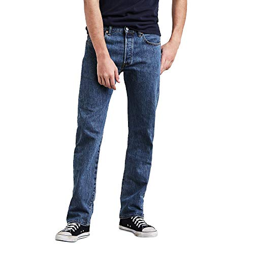 Levi's Men's 501 Original Fit Jeans, Medium Stonewash, 33W x 30L
