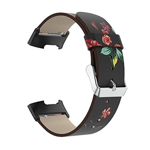 Correa De Reloj Compatible con Charge 3 / Charge 4, Correas De Repuesto Strap De Reloj De Cuero Cinturones Estampados Bandas Transpirables Pulsera Compatible con Charge 3 / Charge 4,C