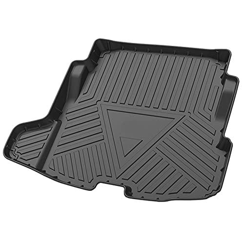 YHSW Kompatibel FüR Jaguar XE 2018 Auto Kofferraummatten, Kratzfest Wasserabweisend Pflegeleicht Gummi Kofferraumwanne