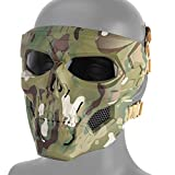 DETECH Paintball Casco táctico Cráneo Máscaras Transpirable Tiro Caza Mascarillas Hombres Cara Completa Airsoft Militar Halloween Fiesta Máscara
