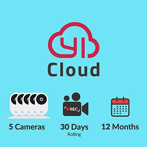 YI/Kami Cloud Plan 12 Month, 5 Camera, 30d rolling storage service [PC/Mac Online Code]