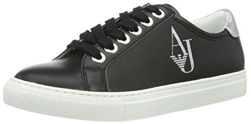 Armani Jeans Damen 9252207P610 Sneakers, Mehrfarbig (Nero), 39 EU