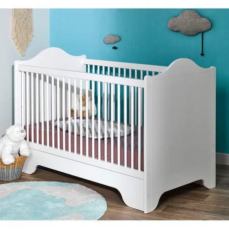 Alfred & Compagnie Lit bébé 70x140 Alice & Gauthier blanc