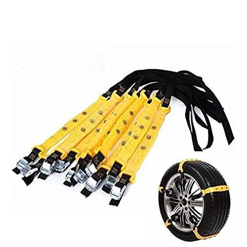 BNMH para EXEED TX 2019-presente. 10 Unids/Set Cadenas De Nieve Antideslizantes para Neumáticos De Coche Cinturón Cadena De Neumáticos De Rueda De Tendón De Carne