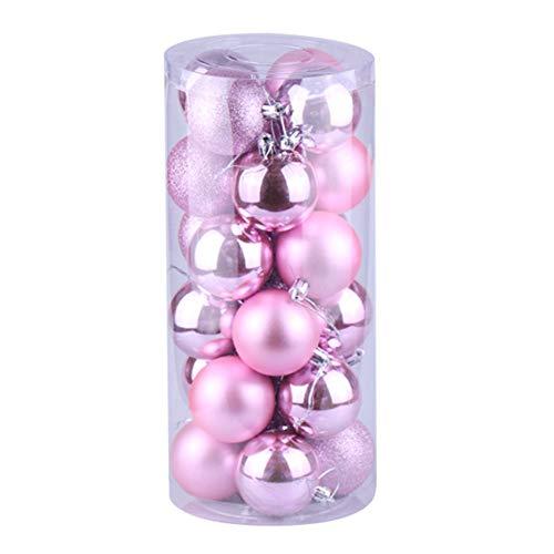 LPxdywlk 24Pcs Bola de Navidad 3cm Adorno Colgante Adorno de Boda de año Nuevo Decoración de árbol de Fiesta en...