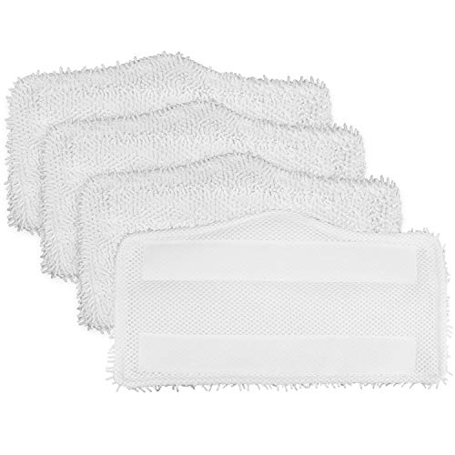 Tidy Monster 4 Pack Microfiber Replacement Washable Cleaning Pads for Shark Steam & Spray Mop S3101 S3202 S3250 S3251 SK410 SK435CO SK460 SK140 SK141