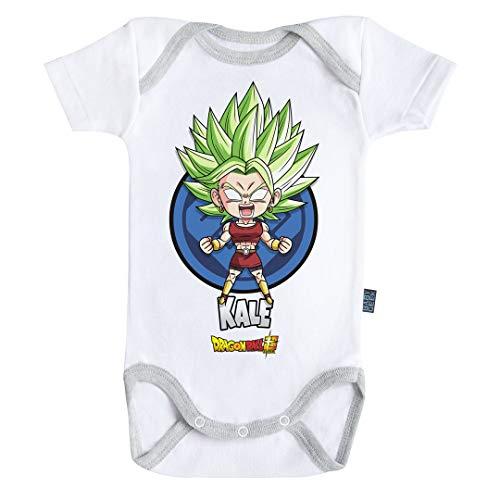 Baby Geek Kale - Dragon Ball Super ™ - Licence Officielle - Body Bébé Manches Courtes (6-12 Mois)