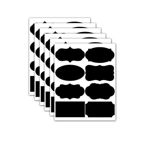 Ruiqas Etiquetas Autoadhesivas Pegatinas Tarros de Cocina Contenedores de Almacenamiento Etiquetas Etiquetas de Pizarra Impermeables Pegatinas de Pizarra