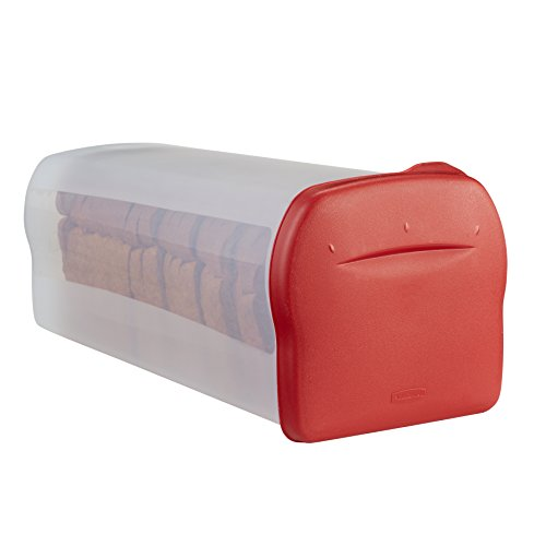 Rubbermaid Specialty Bread Keeper Food Storage Container , Red