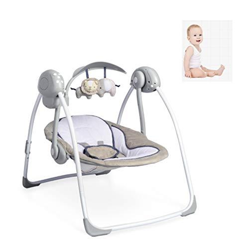 Qilo Infantil eléctrico for niños pequeños Rocker Cama, sofá recién Nacido, Respetuoso del Medio Ambiente Material Bionic Diseño