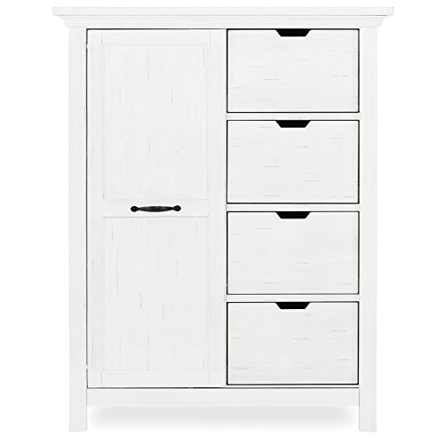 Evolur Belmar Tall Chest, Weathered White