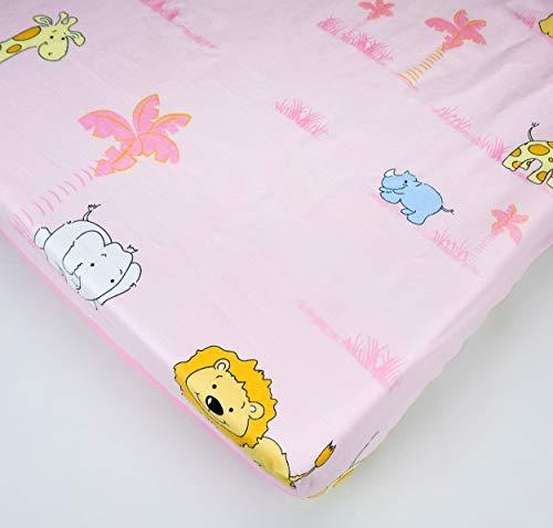 Sábana ajustable de algodón para cama de cuna 140 x 70 - Modelo 11