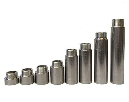 Soytich Extensión de grifo de acero inoxidable, 1/2 pulgadas, longitud de 1 hasta 10 cm (extensión del grifo) (2 cm).