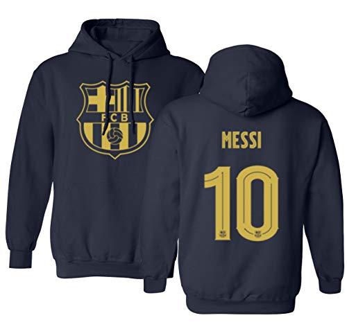Barcelona Soccer Shirt Lionel Messi #10 Futbol Jersey Men's Hooded Sweatshirt