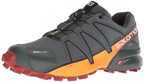 Salomon Men's Speedcross 4 CS Trail Running Shoe, urban chic/red ochre/tangelo, 8 D US