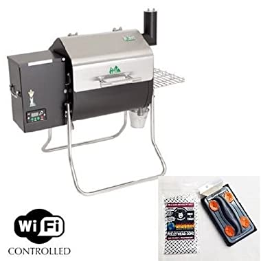 Green Mountain Grill Davy Crockett Pellet Grill with Cleaning Brush- WIFI enabled