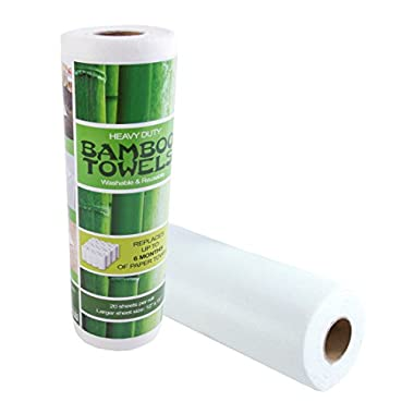 Bamboo Towels - Heavy Duty Eco Friendly Machine Washable Reusable Bamboo Towels - One roll replaces 6 months of towels!