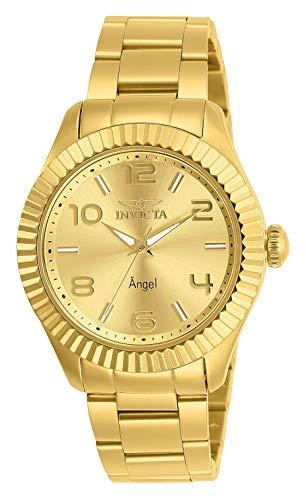 Invicta 27460 Angel Reloj para Mujer acero inoxidable quarzo Esfera or