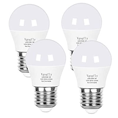 A15 LED Bulb Light Bulbs 40 Watt Equivalent for Ceiling Fan 5W E26 Base 5000K Appliance Bathroom Light Bulbs Non Dimmable Daylight(Pack of 6)