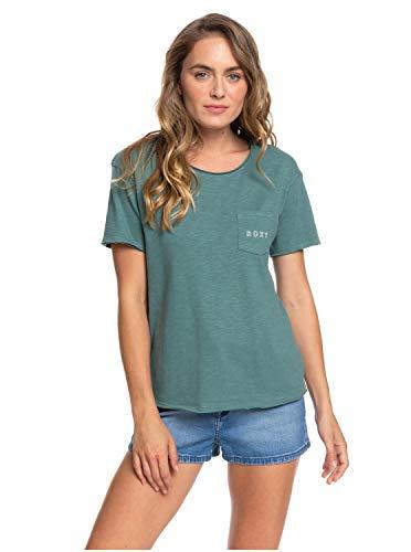 Roxy Damen Screen Tee Star Solar - Taschen-T-Shirt Für Frauen, North Atlantic, L, ERJZT04796