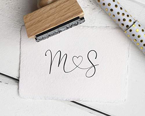 Stempel HOCHZEIT Initialen Herz, Hochzeits-Stempel, Save the Date, Einladung Hochzeit, Versalien, Personalisierter Stempel