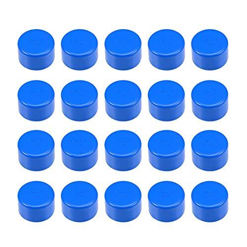 Schedule 40 - Raccordo per tubo in PVC da 40 mm, estremità scorrevoli DWV (scarico dei rifiuti di scarico), irrigazione piscina, insonorizzazione, 20 pezzi, colore: blu