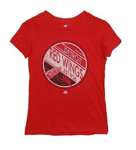 NHL dames ijshockey T-shirt DETROIT RED WINGS vrouwen circle en spots in XXL (2XL)