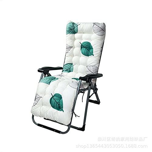 Yanman Cojín de repuesto antideslizante para tumbona, respaldo alto, almohadillas gruesas, grandes para vacaciones, relajante, patio, jardín, exterior, 53 x 170 cm