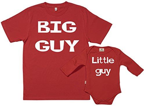 Spoilt Rotten SR - dans Une boîte Cadeau - Big Guy Little Guy - dans Une boîte Cadeau, Rouge, M & 6-12 Mois