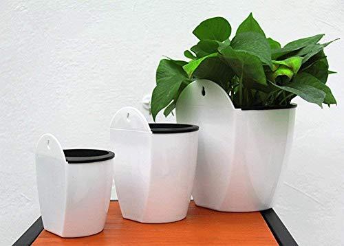 Kentop Selbstbewässernde Pflanze Blumentopf Wand Hängende Lazy Pflanzer für Zuhause Büro Garten - 3
