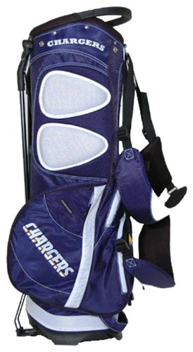 Team Golf NFL San Diego Chargers Fairway Golf Stand Bag, Lightweight, 14-way Top, Spring Action Stand, Insulated Cooler Pocket, Padded Strap, Umbrella Holder & Removable Rain Hood