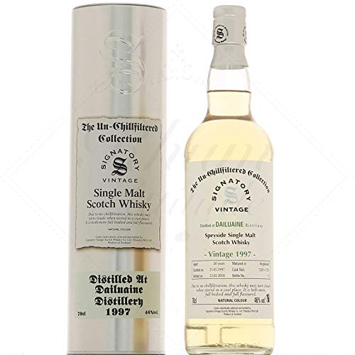Signatory Vintage Dailuaine 20 Years Old The Un-Chillfiltered Collection mit Geschenkverpackung 1997 Whisky (1 x 0.7 l)