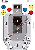 Madwolf Targets Siluetas Tiro táctico IPSC .Multitarea, precisión e instintivo. (84,1 x 59,4 cm) (Pack 50 Siluetas)