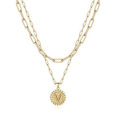 Yoosteel Gold Initial Necklaces for Women Girls...