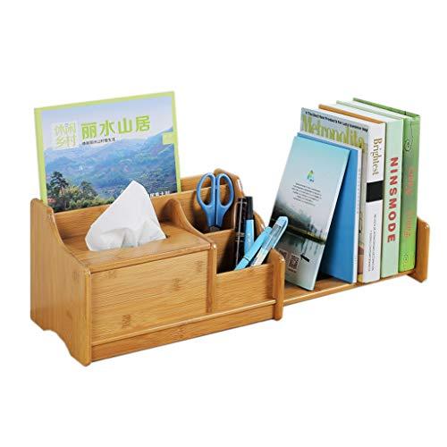 Bibliothèques Bibliothèque simple Tablette de table Petite bibliothèque de bureau pour le bureau des étudiants Boîte à mouchoirs (Color : Brown, Size : 31x18.5x18.3cm)