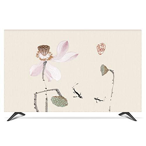 catch-L Cubierta De TV Decoración del Hogar Cubra La Cubierta Antipolvo Lotus Disponible En Varios Tamaños. Cubierta Antipolvo (Color : Fish Lotus, Size : 32inch)