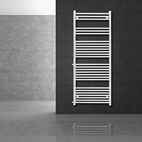 ECD Germany Radiador de baño - 600x1600 mm - Blanco - Recto...