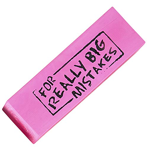 Rhode Island Novelty Jumbo Big Mistake Wedge Eraser, One Per Order