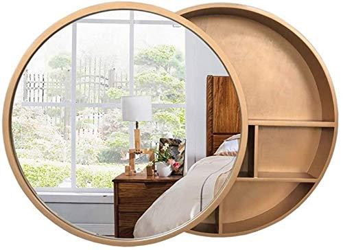 WWJ Gabinete con Espejo montado en la Pared, Dormitorio, baño, Maquillaje, cosméticos, Almacenamiento, 50 cm (19,7 Pulgadas) (Color: B, tamaño: 60 cm)