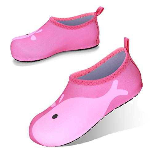 JOTO Water Shoes Beach Socks for Kids Toddler Baby Girls Boys, Barefoot Quick-Dry Non-Slip Swim Socks Aqua Water Shoes for Beach Swimming Pool Water Park