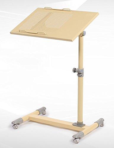 Simple et Moderne Bureau Bureau d'ordinateur Tables Mobiles Table d'étude de Chevet en Hauteur réglable de façon pivotante (4 Couleurs en Option) (Couleur : C, Taille : L*W*H: 56 * 35*(59-93) cm)