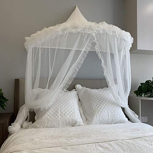 Ciel de Lit Blanc Moustiquaire Bebe Baldaquin Lit Enfant Cadeau Tente Interieur Decoration Chambre Garçon Fille Cadeau WHT