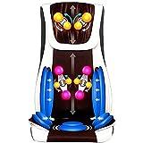 XinMuZheng Cojín masajeador de espalda y cuello con función de calor calmante, masaje de alta intensidad, multifuncional y fácil de almacenar, se adapta perfectamente a la silla