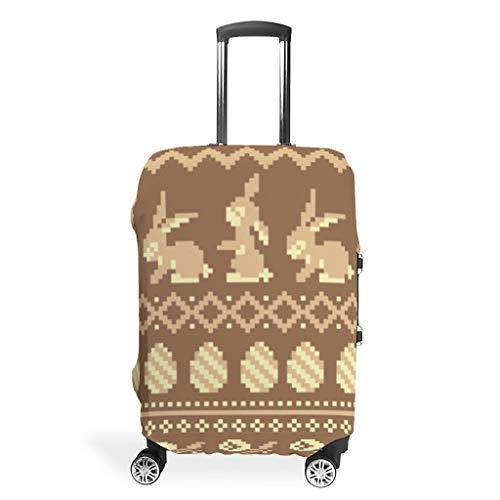 Maleta de viaje con diseño de conejo de Pascua elástica, 4 tamaños para equipaje protector, White (Blanco) - STELULI-XLXT-24
